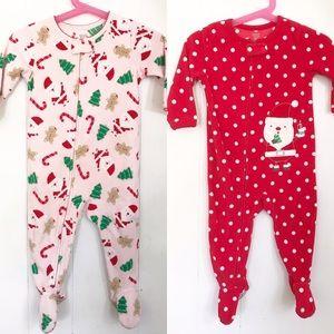 Carter's | Bundle of Two Christmas Fleece Sleepers